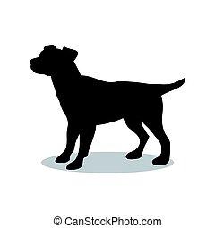 Dog pup pet black silhouette animal