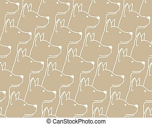 Dog Seamless Pattern pet puppy isolated illustration repeat wallpaper tile background