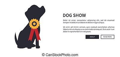 Dog Show Banner with Winner of Dogs Competition