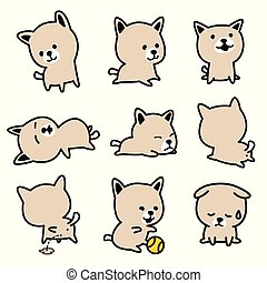 Dog vector french bulldog character icon cartoon breed Puppy illustration doodle