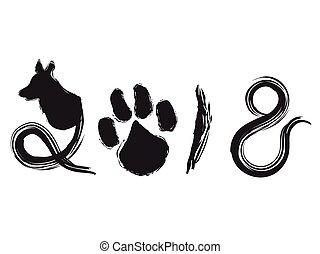 dog year 2018 calligraphy background