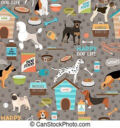Dogs seamless background pattern