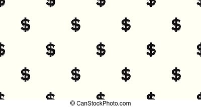 Dollar money Seamless Pattern Vector isolated icon repeat wallpaper background