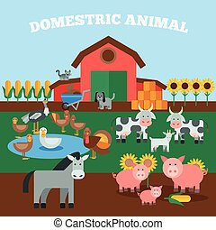 Domestic Animals Concept
