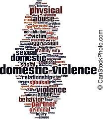 Domestic violence word cloud concept. Vector illustration