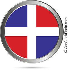 Dominican Republic flag button.
