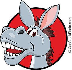 Donkey head cartoon