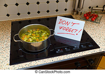 a sign that says dont forget to remind an alzheimer patients with dementia. (english)