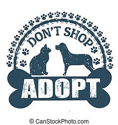 Don't shop adopt stamp
