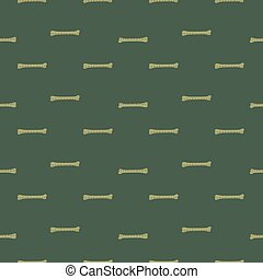 Doodle seamless pattern with cartoon simple bones silhouettes. Dark green background.