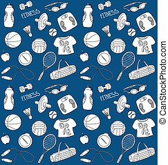 Doodle Sport Seamless Pattern