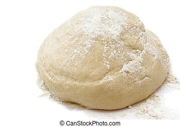 Raw freshyeast dough isolated on white
