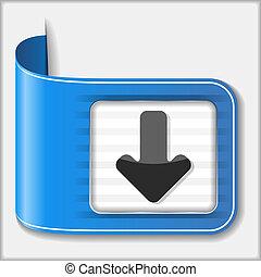 Download button, vector eps10 illustration