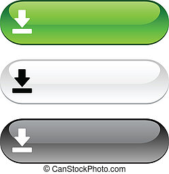 Download glossy buttons. Three color version. .