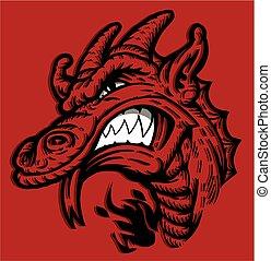 dragon mascot head