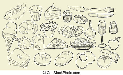 Drawn Food Collection