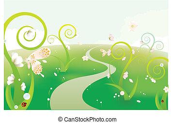 the dreamlike gren garden background