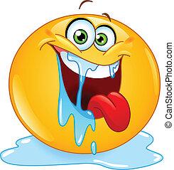 Drooling emoticon