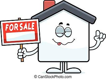 Drunk Cartoon Home Sale