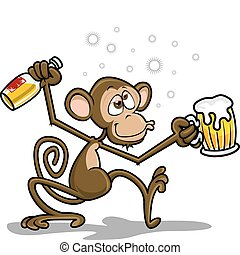 Drunk monkey theme