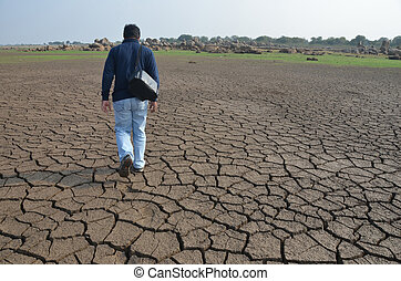 Dry land in South India