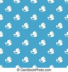 Duck pattern seamless blue