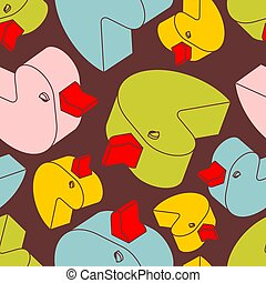 Duck rubber pattern seamless. isometric toy background. Children cloth texture?