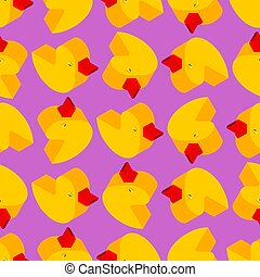 Duck rubber pattern seamless. isometric toy background. Children cloth texture