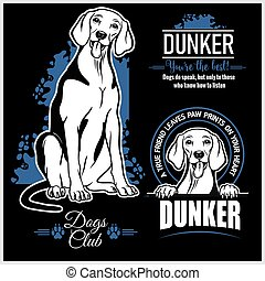 Dunker - vector set for t-shirt, logo and template badges
