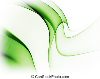 dynamic green abstract background on white