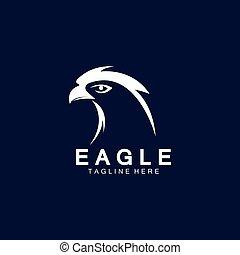 Eagle icon logo design vector template