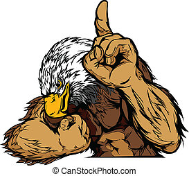 Eagle Mascot Body Vector Cartoon