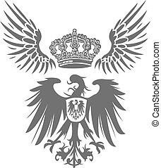 eagle shield with wing and crown