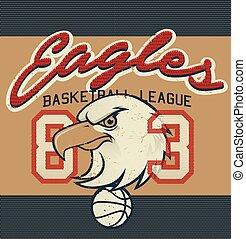 Eagles Basketball league jersey print