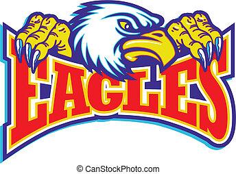 eagles design with mascot head