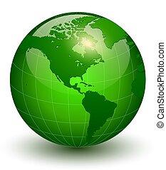 Earth globe 3D icon