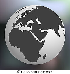 earth globe against abstract background