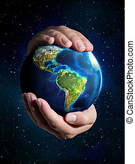 earth in the hands - Universe