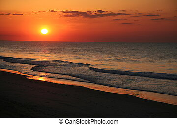 East coast beach sunrise.