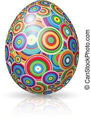 Easter Egg. Vector illustration on white background for design