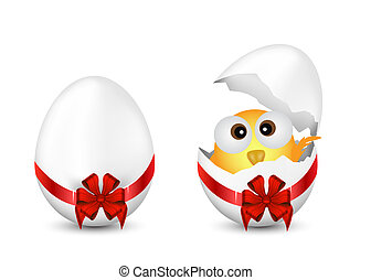 Easter Eggs and Chicken