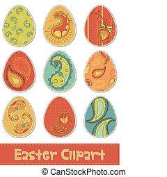 Easter Eggs Design Elements for Scrapbooking