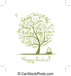 Easter tree sketch for your design