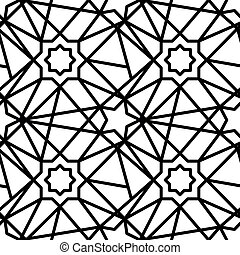 Eastern pattern. Vector pattern on white isolated background
