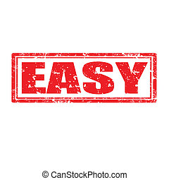 Grunge rubber stamp with word Easy, vector illustration