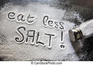 Message about excessive salt consumption.