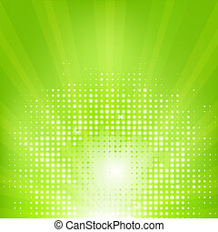 Eco Green Background With Leafs, Vector Illustration