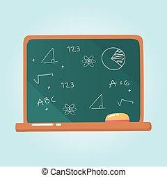 education blackboard and chalk school elementary cartoon icon