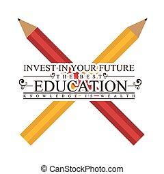 Education design over white background, vector illustration.