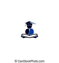 Education logo open book.